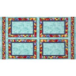 Summer Preserves Placemat Panel Multi/Teal