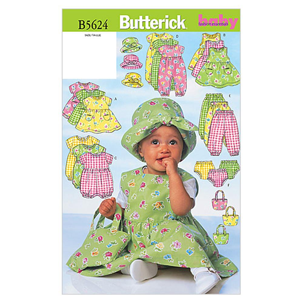 Butterick Infants' Dress, Jumper, Romper, Jumpsuit, Panties, Hat