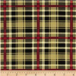 My True Love Gave to Me Plaid Gold