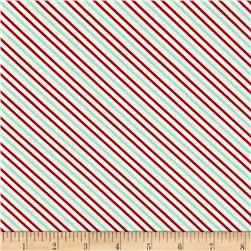 Moda Hello Darling Summer Stripe Red Aqua