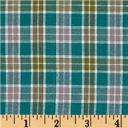 Yarn-Dyed Plaid Shirting Teal/Sage