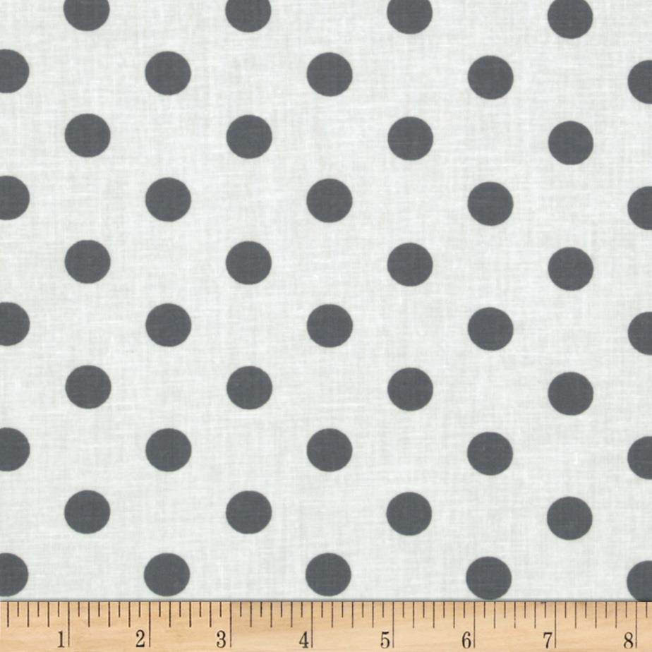 Spot On II Polka Dots White/Grey