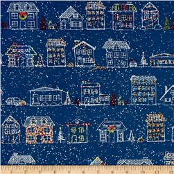 Naughty Or Nice? Christmas Houses Navy