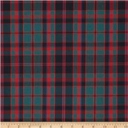 Poly/Cotton Uniform Plaid Green/Red/Black/Blue Fabric