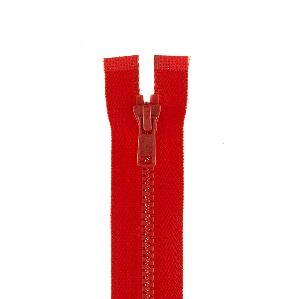 "Coats & Clark Medium Weight Molded Separating Zipper 16"" Atom Red"