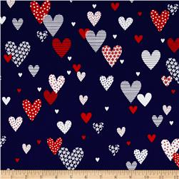 Kanvas Love American Style Hearts of America Navy
