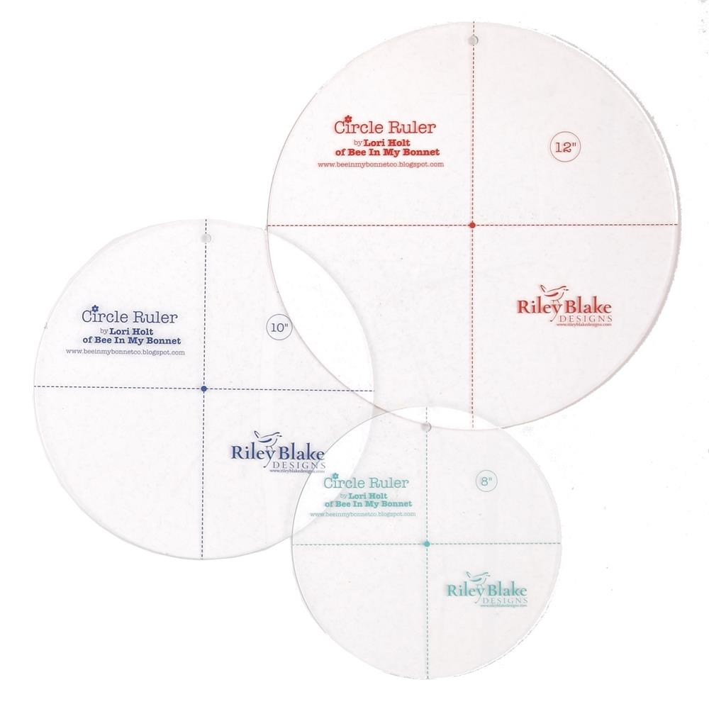 "Lori Holt Circle Ruler Set (8, 10, 12"")"