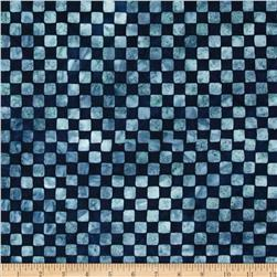 Artisan Batiks Color Source Checkerboard Indigo