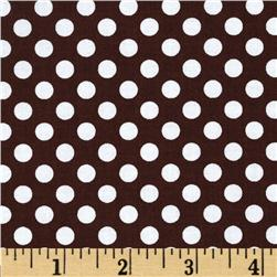 Riley Blake Dots Small Brown