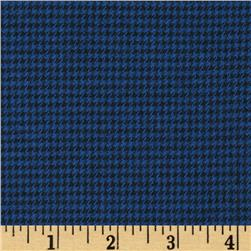 Kaufman Shetland Flannel Houndstooth Navy Fabric