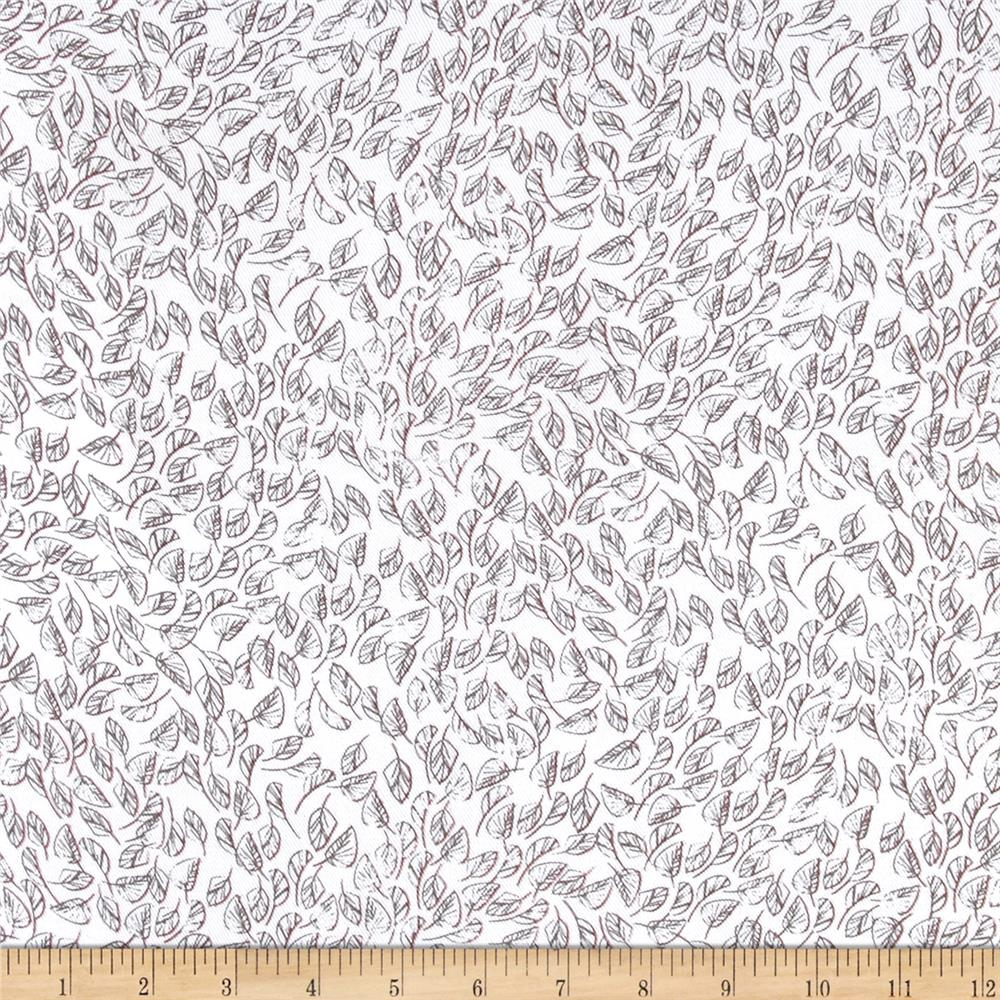 Rayon Challis Tropical Prints Ivory/Brown - Discount ...