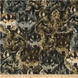 WinterFleece Wolves Heads