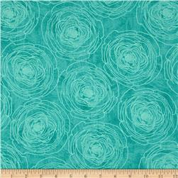 Always Blooming Tone on Tone Flower Aqua