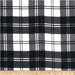 Winterfleece Double Take Plaid Ivory/Black Fabric
