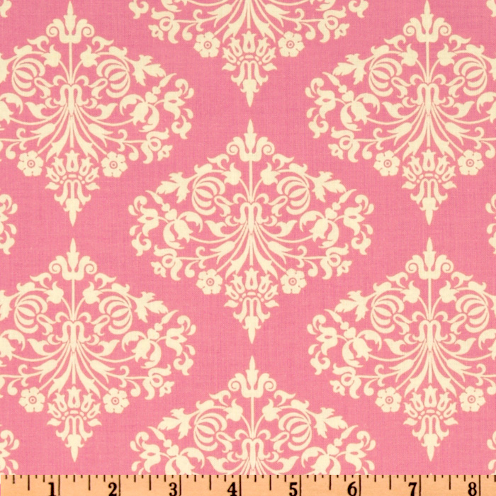 Amy butler midwest modern fresh poppies fuchsia discount for Modern home decor fabric