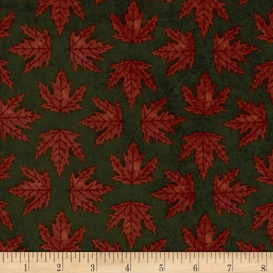 Moda Endangered Sanctuary Flannel Maple Leaves Forest