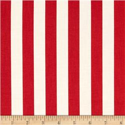 Fresh Market Stripe Red Fabric