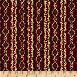 Tavern Collection Decorative Stripe Red