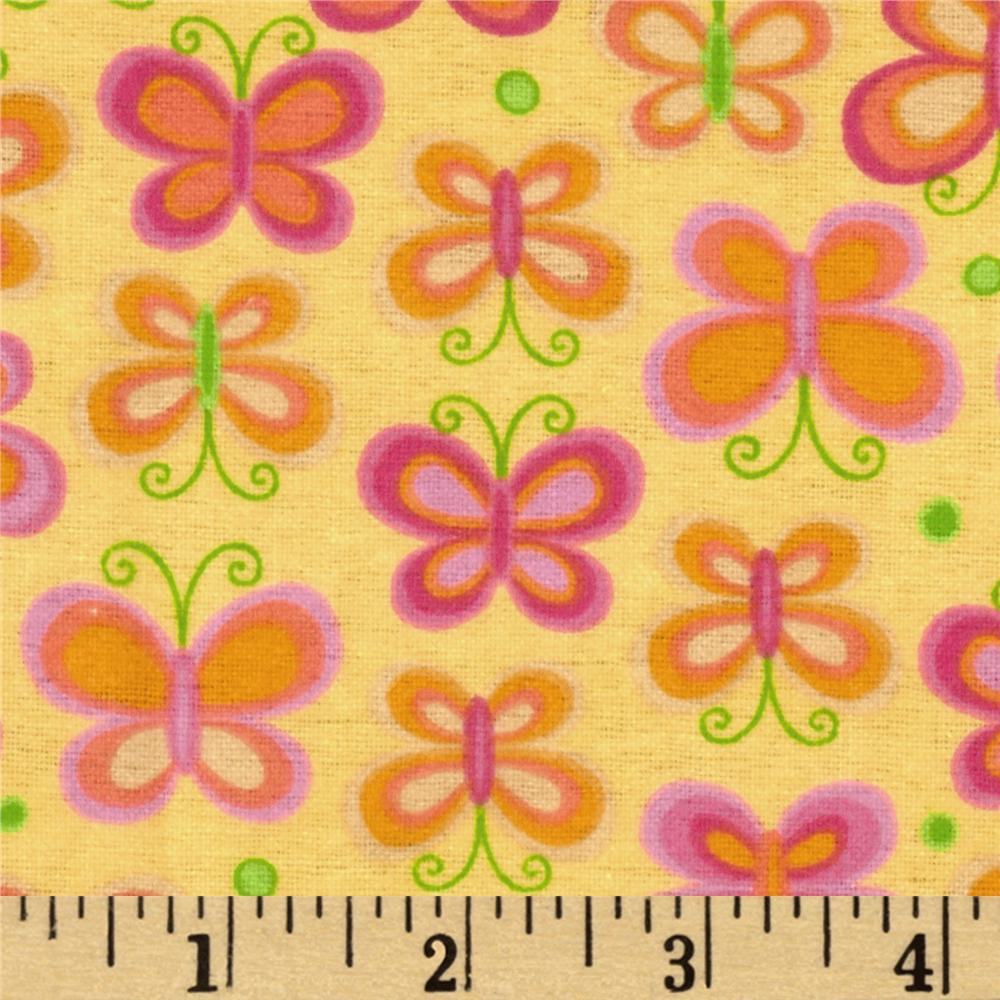 Parfait Flannel Butterflies Banana