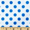 Minky Minnie Dots White/Royal Blue
