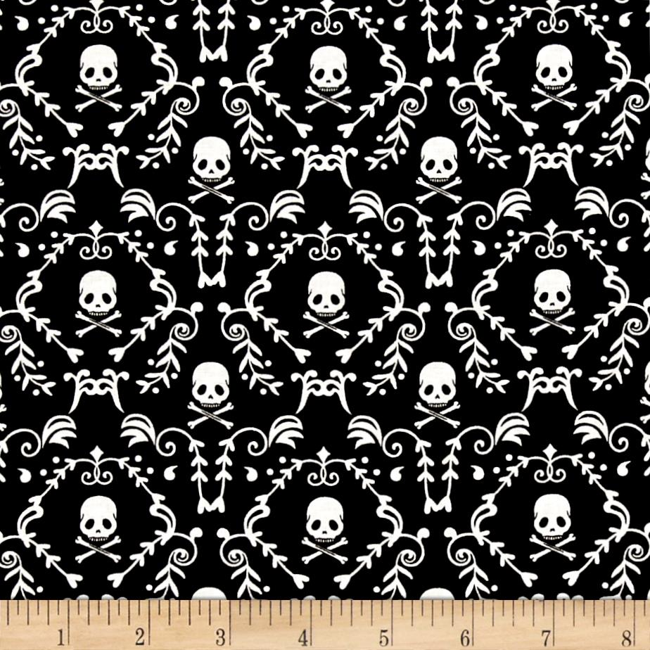 Punk Rock Skull Damask