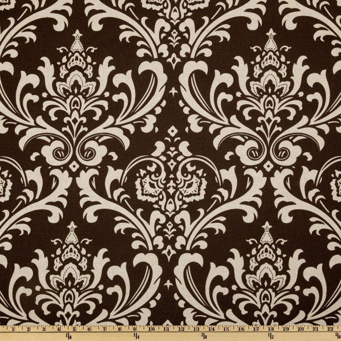 Premier Prints Ozborne Blend Chocolate/Natural Fabric