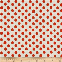 Contempo Palm Springs Dot All Over Orange