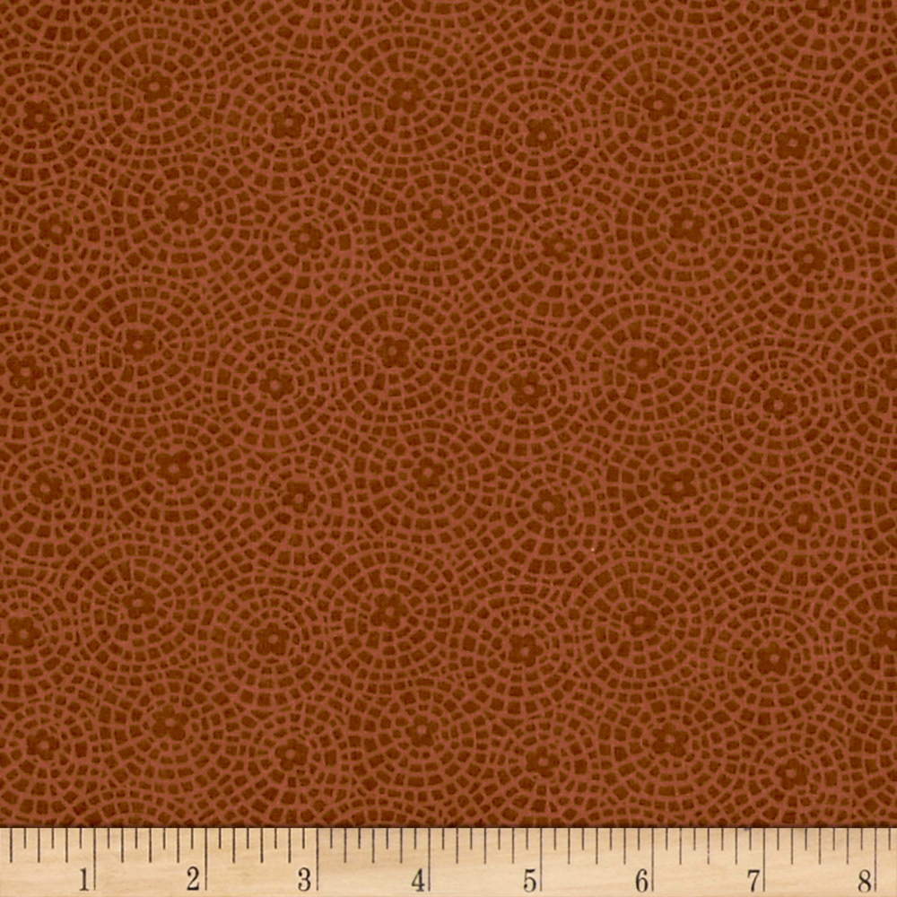 INOpets.com Anything for Pets Parents & Their Pets Sunshine Garden Tile Cinnamon Fabric