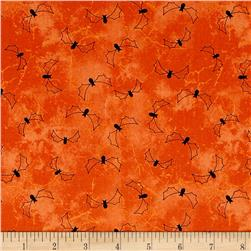Maywood Studio Halloweenie Stitchy Bats Orange