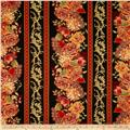 Tree of Life Metallic Eden Floral Stripe Spice
