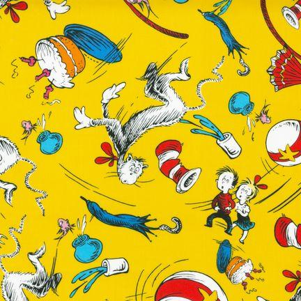 The Cat In The Hat Motifs Yellow