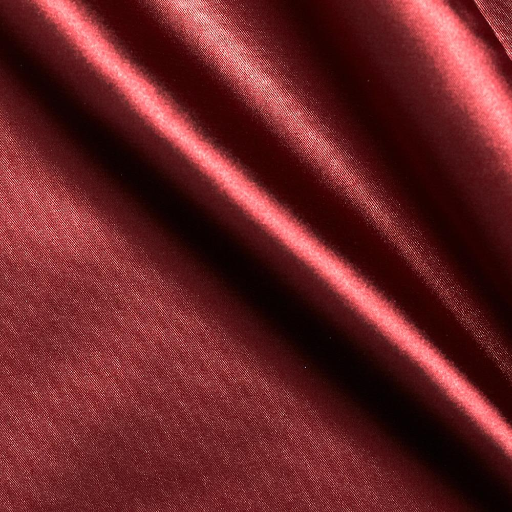 Stretch Charmeuse Satin Cranberry Fabric By The Yard