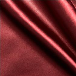 Stretch Charmeuse Satin Cranberry Fabric