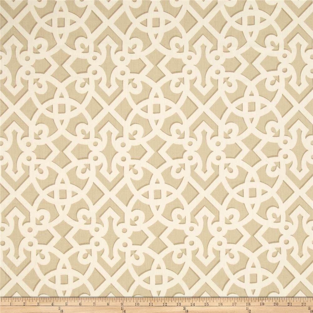 Waverly Williamsburg Francis Fret Chintz Sand