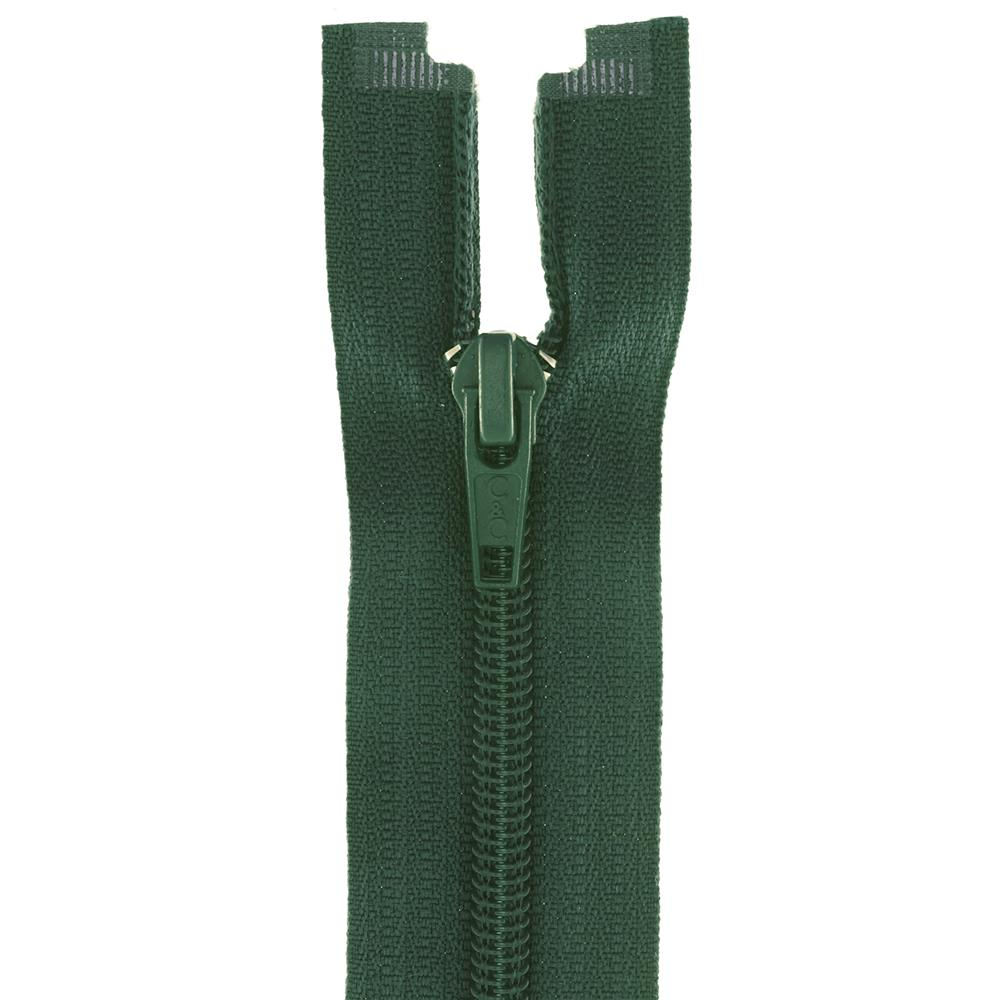"Coats & Clark Coil Separating Zipper 22"" Forest Green"