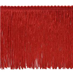 4'' Stretch Chainette Fringe Trim Red