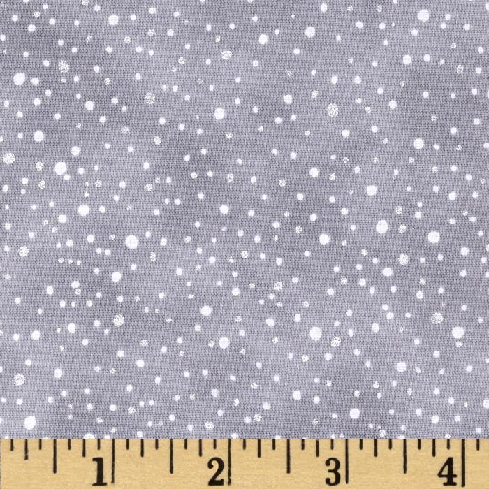 Woodsy Winter Metallic Snow Dots Ice/Silver
