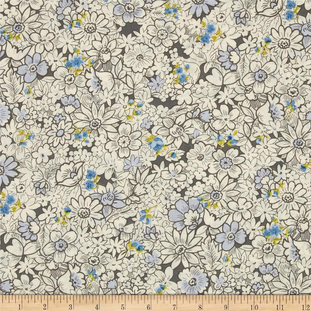 Kaufman London Calling Lawn Tight Floral Periwinkle