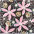 Michael Miller Laminated Cotton Daisy Dreams Brown