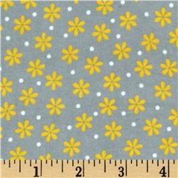 Robert Kaufman Cozy Cotton Flannel Daisy Yellow