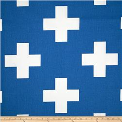 Premier Prints Large Swiss Cross Cobalt