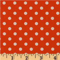 Michael Miller Dumb Dot Clementine Orange Fabric