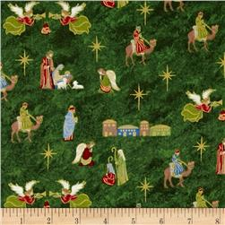Silent Night Nativity Green