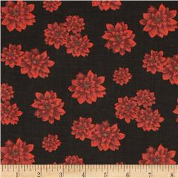 Holiday Novelties Tossed Poinsettias Black
