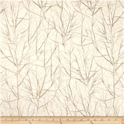 Timeless Treasures Mountain Getaway Cabin Tree Branches Cream