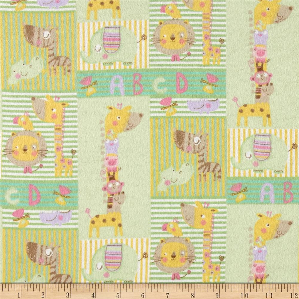 Small Patch Flannel Green Fabric By The Yard