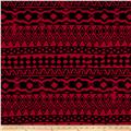 Venezia Spun Poly Jersey Knit Ethnic Black/Red