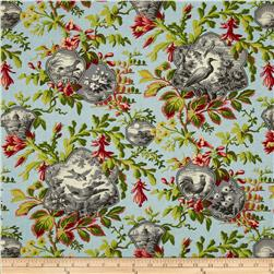 Birds of a Feather Bird Toile Multi Fabric