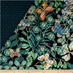 Alexander Henry Double Sided Quilted Bella Strada Chiara Black/Sage