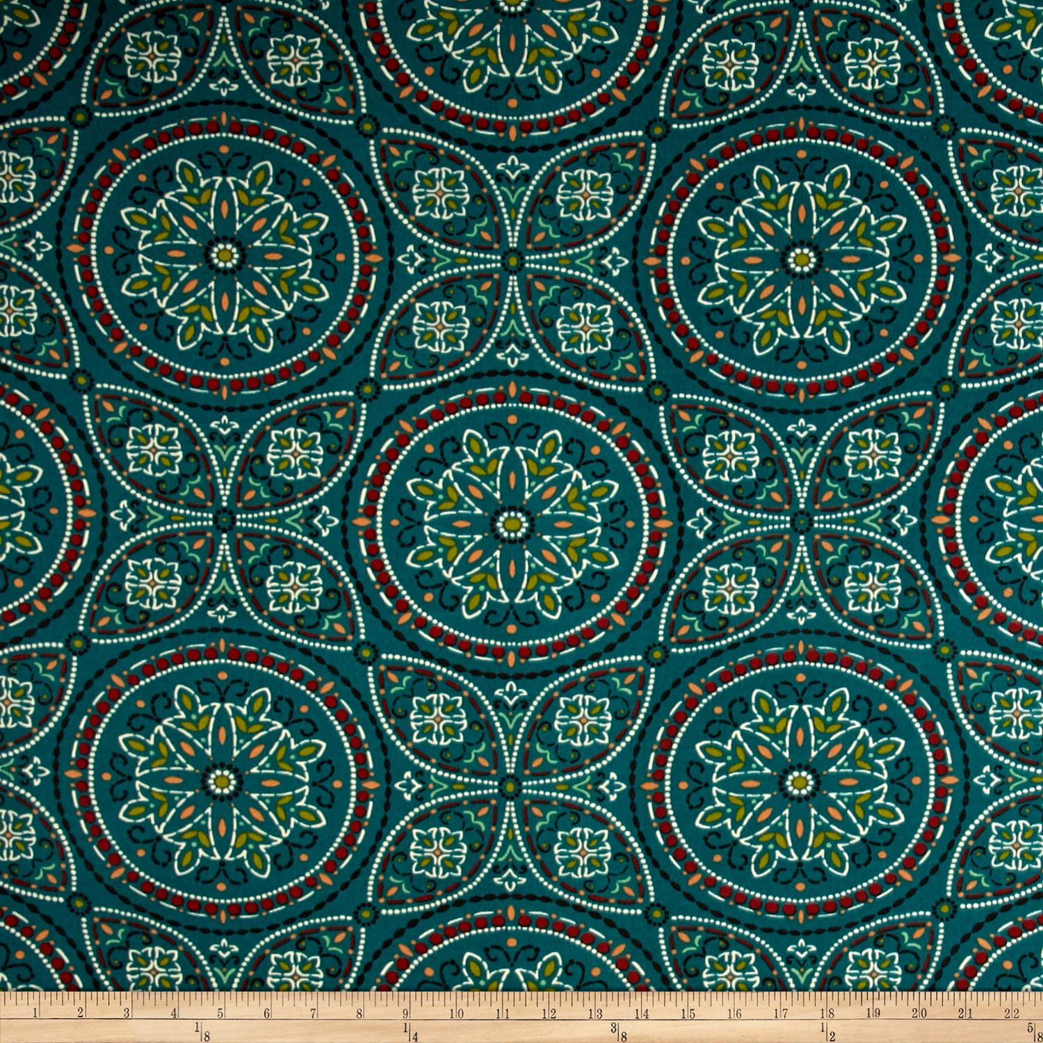 Richloom Solarium Outdoor Alden Teal Fabric by TNT in USA